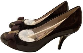 Salvatore Ferragamo Purple Patent leather Heels