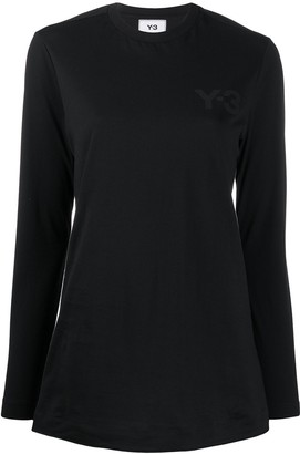 Y-3 logo print long-sleeved T-shirt
