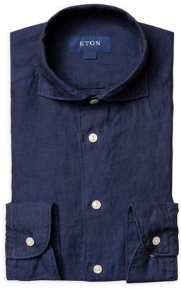 Eton Slim-Fit Soft Linen Dress Shirt