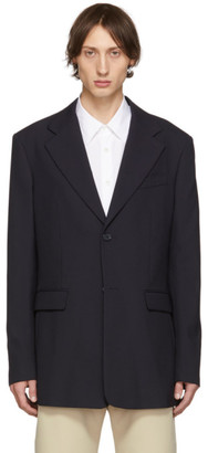 Raf Simons Navy Single-Breasted Fitted Blazer