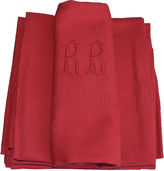 One Kings Lane Vintage Antique French Organic Dyed Napkins,S/11