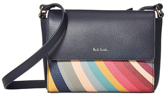 Paul Smith Swirl Block Crossbody (Navy) Handbags