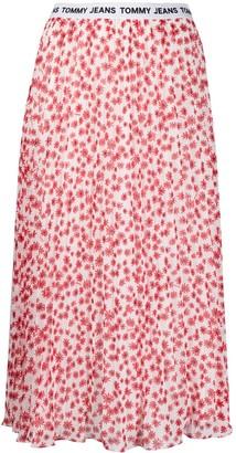 Tommy Jeans Plisse Floral Midi Skirt