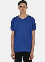 J.w. Anderson Men's Strapped Round Neck T-shirt In Blue