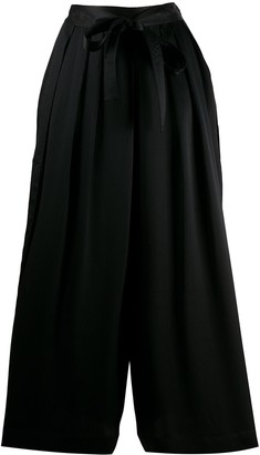 McQ Swallow Belted Palazzo Trousers