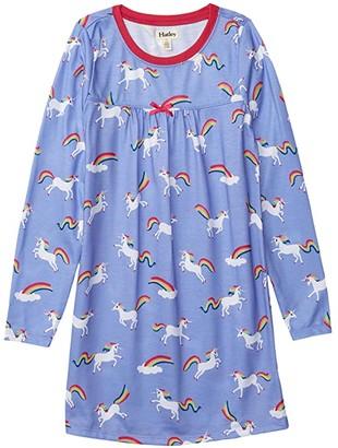 Hatley Rainbow Unicorns Long Sleeve Nightdress (Toddler/Little Kids/Big Kids) (Purple) Girl's Pajama