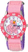 EWatchFactory Girl's 'Sesame Street' Quartz Stainless Steel and Nylon Automatic Watch, Color:Pink (Model: W003189)