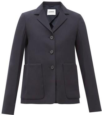 Jil Sander Single-breasted Patch Pocket Wool Jacket - Womens - Navy