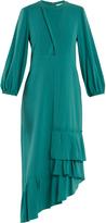 Tibi Savanna asymmetric ruffled crepe dress