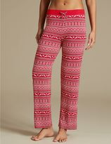 Marks and Spencer Fairisle Print Straight Leg Pyjama Bottoms
