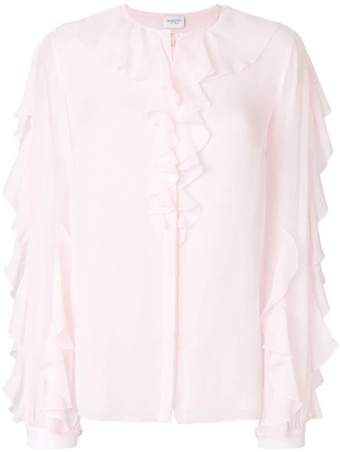 Giambattista Valli frill trim blouse