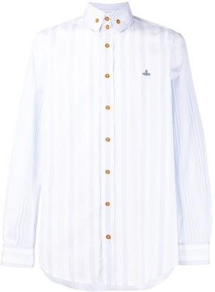 Vivienne Westwood Striped Button-Down Collar Short