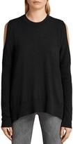 AllSaints Reya Cold-Shoulder Sweater