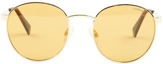 Polaroid Orange Metal Sunglasses