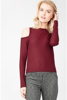 Select Fashion Fashion Womens Red Cut Out Rib Crop Long Sleeve - size 6