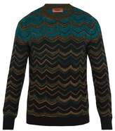 Missoni Dégradé Zigzag Wool-knit Sweater