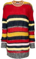 ALEXACHUNG Alexa Chung knitted horizontal stripe jumper