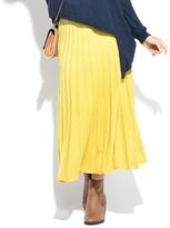Everest Green Pleat Maxi Skirt