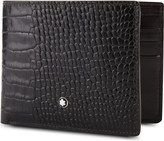 Montblanc MeisterstÃ1⁄4ck 6cc croc-embossed leather wallet