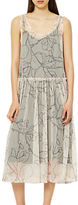 Selected Eden Print Mesh Dress, Creme De Peche