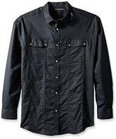 Sean John Men's Big and Tall Long Sleeve Linen Shirt
