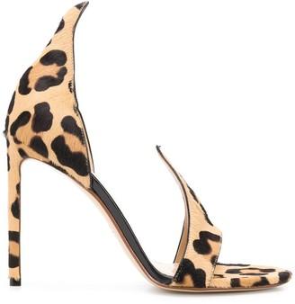 Francesco Russo Flame leopard print sandals