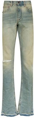 Off-White split cuff slim leg jeans