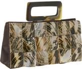 Global Elements Rectangle Tiger Shell Handbag