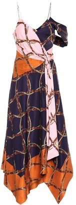 Jonathan Simkhai Printed satin maxi dress