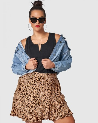 Sunday In The City - Women's Neutrals Mini skirts - Maze Skirt - Size One Size, 10 at The Iconic