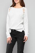 Fate Eyelet Shoulder Sweater