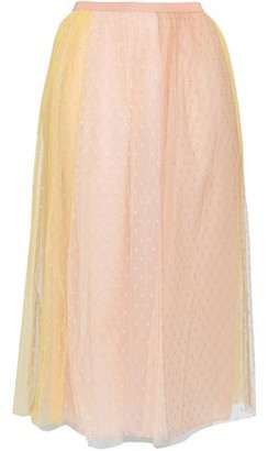 RED Valentino Two-tone Point D'esprit Midi Skirt