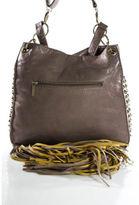 Imoshion Mauve Magnetic Popper Closure Studded Tassel Crossbody Handbag
