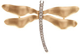 Kenneth Jay Lane Two-Tone Crystal Dragonfly Pin