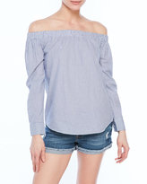 RD Style Off-The-Shoulder Stripe Top