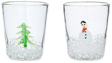 Global Amici Snowy Day Recycled Glasses - Set of 2
