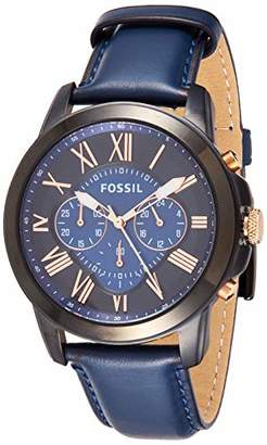 Fossil Men's Grant Stainless Steel Analog-Quartz Watch with Leather Calfskin Strap