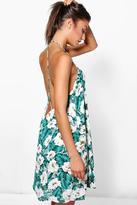 Boohoo Tall Lani Printed Strappy Back Dress