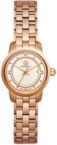 Tory Burch Women's Swiss Classic Mini Rose Gold-Tone Stainless Steel Bracelet Watch 28mm TB1031