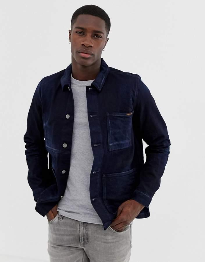 Nudie Jeans Paul overshirt jacket in indigo