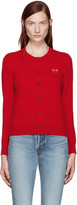 Comme des Garcons Red Heart Patch Cardigan