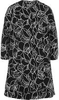 Giambattista Valli Scalloped printed crepe coat