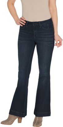 Laurie Felt Regular Silky Denim High-Heel Bell Zip Fly Jeans