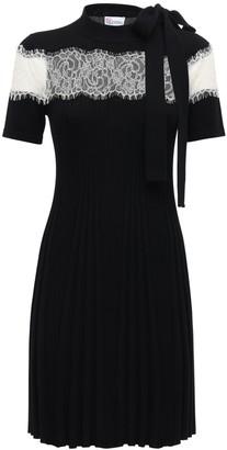 RED Valentino Fine Wool Knit Mini Dress