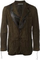 Di Liborio - panelled blazer - men - Suede - 50