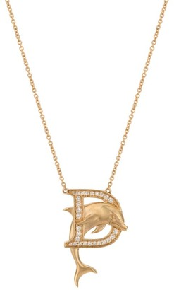 Stephen Webster Yellow Gold and Diamond Fish Tales D Necklace