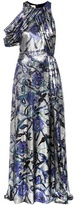 Christopher Kane Metallic silk-blend gown