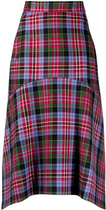 Vivienne Westwood Tartan Asymmetric Skirt