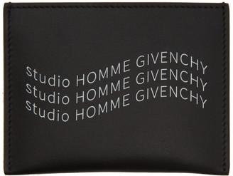 Givenchy Black Studio Homme Print Card Holder