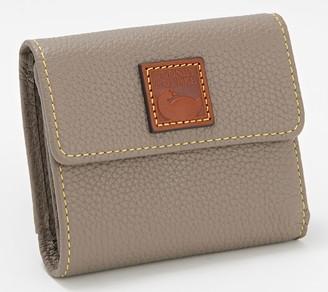 Dooney & Bourke Pebble Leather Flap Wallet